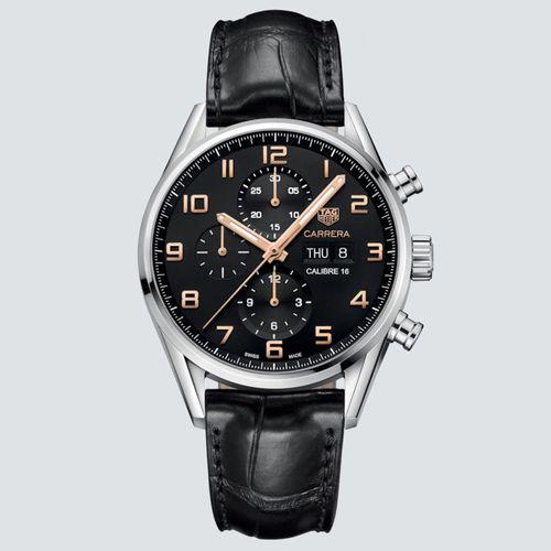 TAG Heuer Reloj Carrera con Detalles de Oro Rosa 43mm