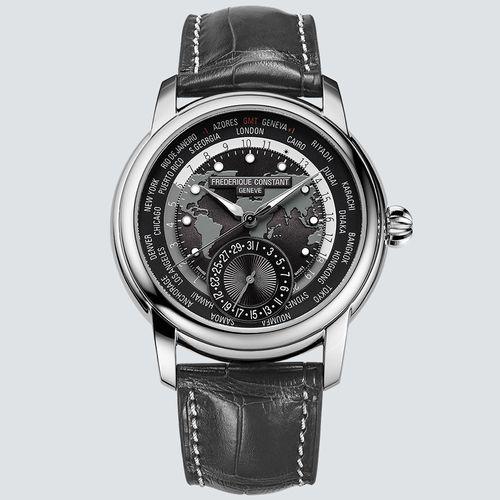 Frederique Constant Reloj Classic Worldtimer Manufacture Acero 42mm