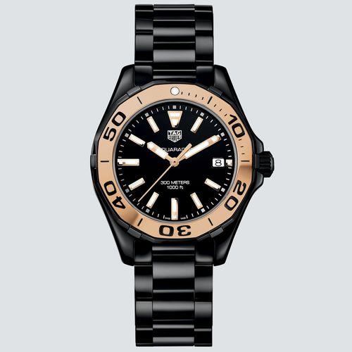 TAG Heuer Reloj AQUARACER Bisel de Acero y Oro 35mm