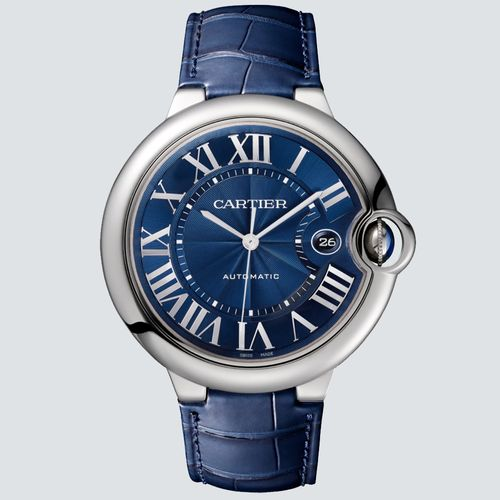 Cartier Reloj Ballon Bleu Acero Inoxidable con Correa Azul 42mm