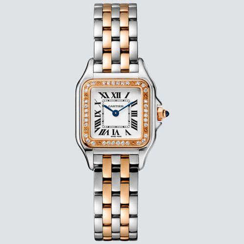 Cartier Reloj PANTHÈRE Acero Oro Rosa 18k y Diamentes 22mm x 30mm
