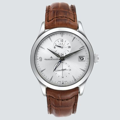 Jaeguer LeCoultre Reloj Master Dual Time Automatic Silver Dial 40mm