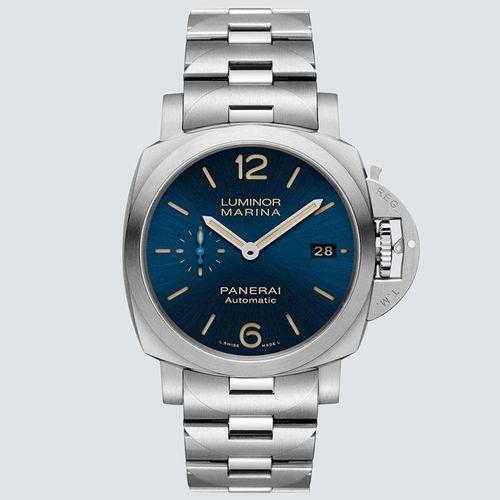 Panerai Reloj Luminor Marina Acero Dial Azul 42mm