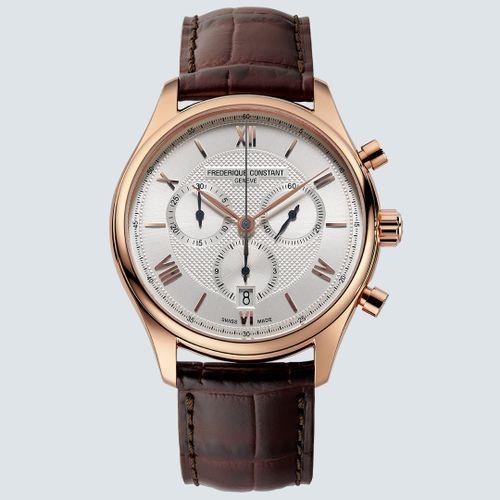 Frederique Constant Reloj CLASSICS QUARTZ CHRONOGRAPH en Oro Rosa 40mm