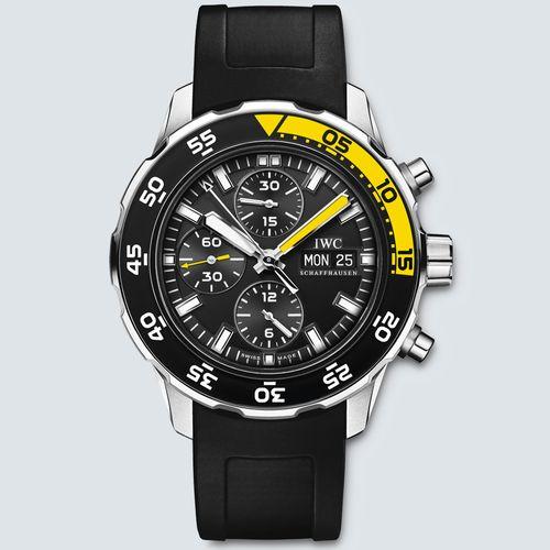 IWC Reloj AQUATIMER CRONÓGRAFO Dial Negro 45.6mm