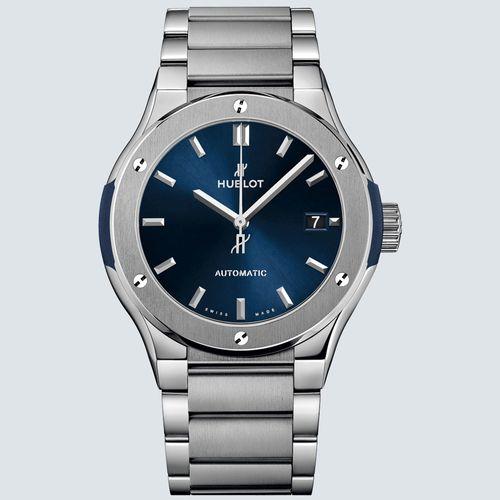 Hublot Reloj CLASSIC FUSION BLUE TITANIUM BRACELET 45mm