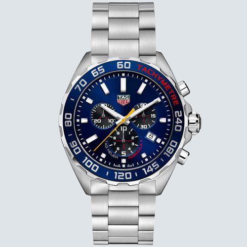 TAG Heuer Reloj Formula 1 Quartz Chronograph Dial Azul 43mm