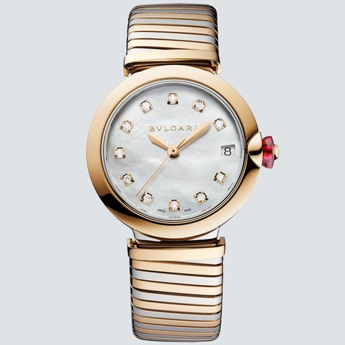 Bulgari Reloj Lvcea Tubogas con Diamantes 33mm