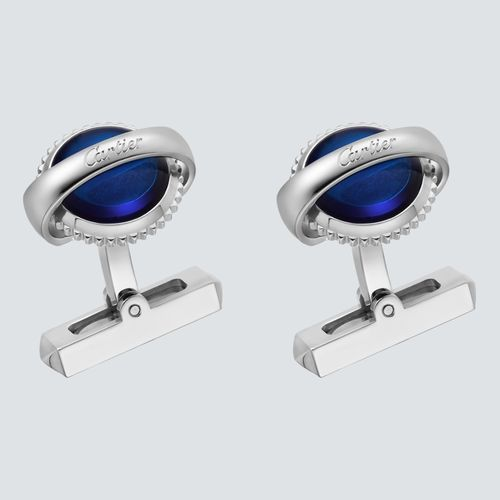 Cartier Mancuernas de Plata Ballon Bleu