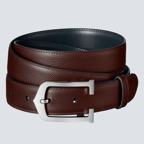 Cartier Cinturón C Alargada Marrón