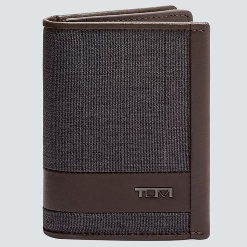 Tumi Tarjetero GUSSETED ALPHA SLG Anthracite/Brown